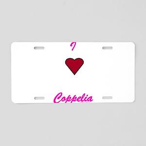 Heart Coppelia Aluminum License Plate