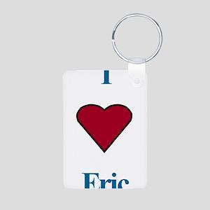 Heart Eric Aluminum Photo Keychain