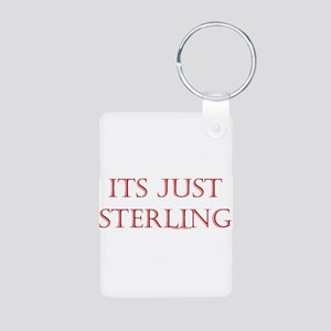 """Just """"Sterling"""" Aluminum Photo Keychain"""