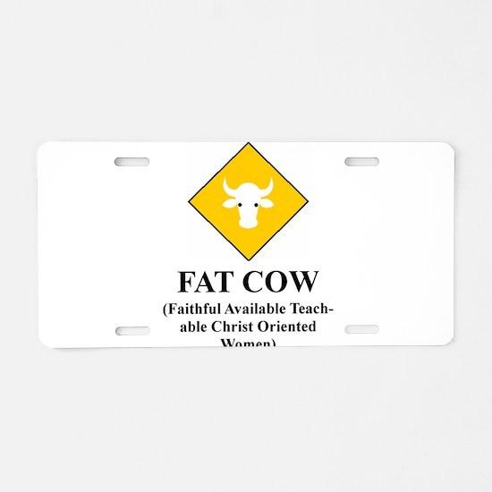 Cute Campus Aluminum License Plate