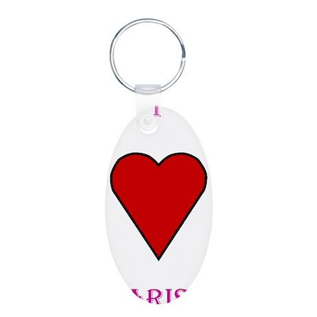 Heart Marisa Aluminum Oval Keychain