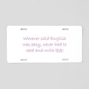 Secret Language 001 Aluminum License Plate