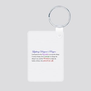 Light Designer Prayer Aluminum Photo Keychain