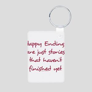 Happy Endings Finished Aluminum Photo Keychain