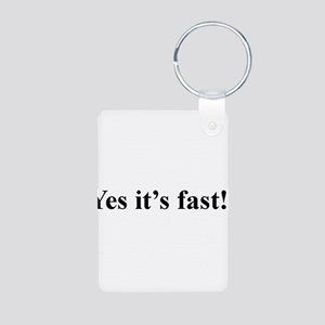 Fast Aluminum Photo Keychain