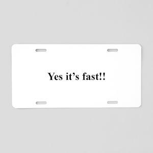 Fast Aluminum License Plate