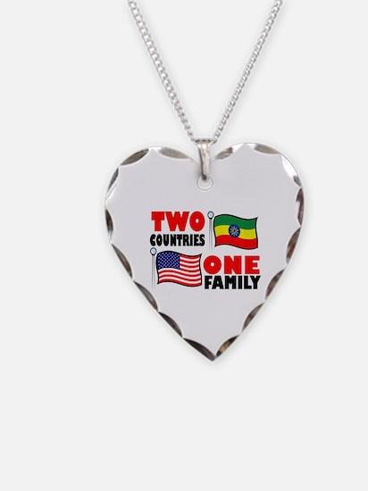 Unique Ethiopia adoption Necklace