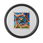 Rehoboth RoundUp 2020 SMALL logo2 Large Wall Clock