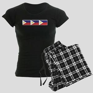 Philippine Flags Women's Dark Pajamas