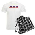 Philippine Flags Men's Light Pajamas