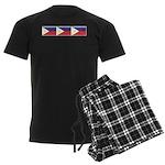 Philippine Flags Men's Dark Pajamas