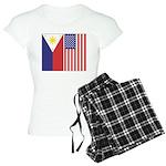 Philippine Flag & US Flag Women's Light Pajama