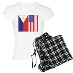 Philippine Flag & US Flag Women's Light Pajama