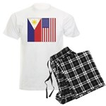Philippine Flag & US Flag Men's Light Pajamas