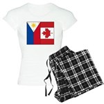 PI Flag & Canada Flag Women's Light Pajamas