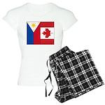 PI Flag & Canada Flag Women's Light Pajamas