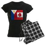 PI Flag & Canada Flag Women's Dark Pajamas