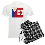PI Flag & Canada Flag Men's Light Pajamas