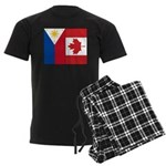PI Flag & Canada Flag Men's Dark Pajamas