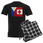 PI Flag & Canada Flag Men's Dark Pajamas