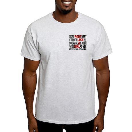 Licensed Fight Like a Girl 23.3 Brai Light T-Shirt
