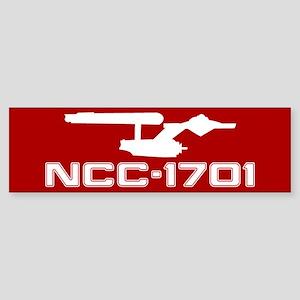 NCC-1701 (red) Sticker (Bumper)
