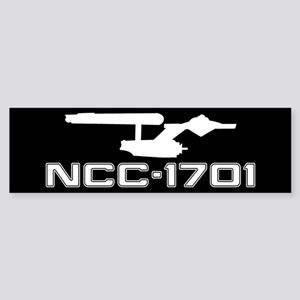 NCC-1701 (black) Sticker (Bumper)