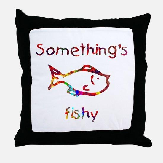Something's Fishy Throw Pillow