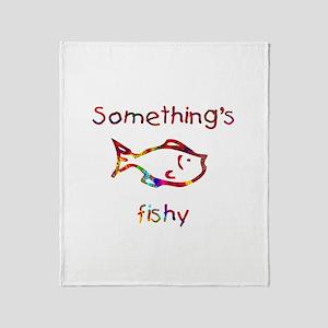 Something's Fishy Throw Blanket