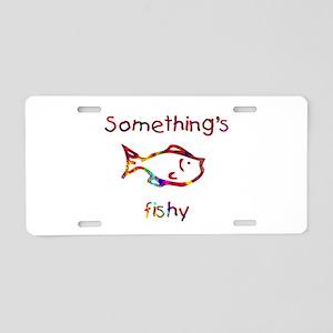 Something's Fishy Aluminum License Plate