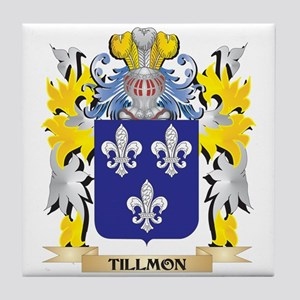 Tillmon Family Crest - Coat of Arms Tile Coaster