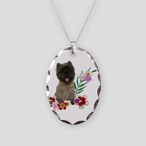 Cairn Terrier Necklace Oval Charm