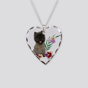 Cairn Terrier Necklace Heart Charm