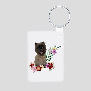 Cairn Terrier Aluminum Photo Keychain