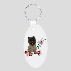 Cairn Terrier Aluminum Oval Keychain