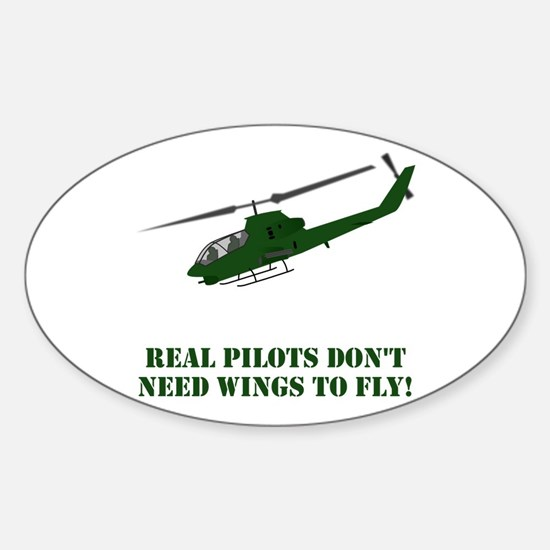 Cool Helicopter pilot Sticker (Oval)