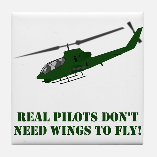 Cute Military helicopter Tile Coaster