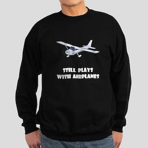 Still Plays With Airplanes Sweatshirt (dark)