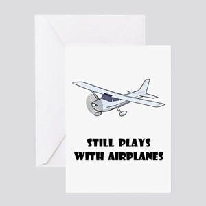 Still Plays With Airplanes Greeting Card