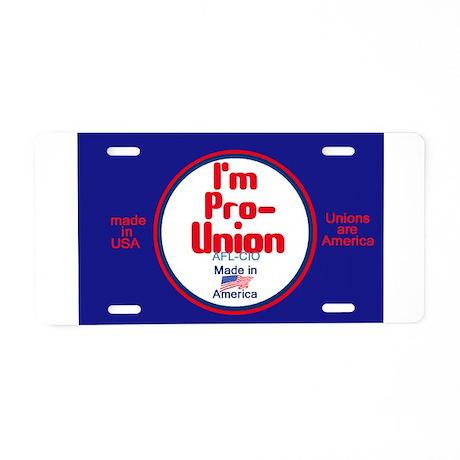 Pro Union Aluminum License Plate