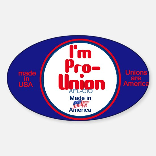 Pro Union Sticker (Oval)