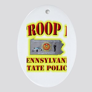 PA State Police Troop B Ornament (Oval)