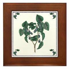Mulberries Framed Tile