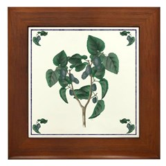 Mulberries Framed Tile