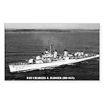 USS CHARLES J. BADGER Sticker (Rectangle)