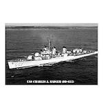 USS CHARLES J. BADGER Postcards (Package of 8)
