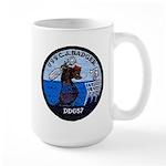 USS CHARLES J. BADGER Large Mug