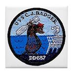 USS CHARLES J. BADGER Tile Coaster