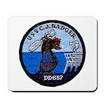 USS CHARLES J. BADGER Mousepad