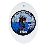 USS CHARLES J. BADGER Ornament (Oval)